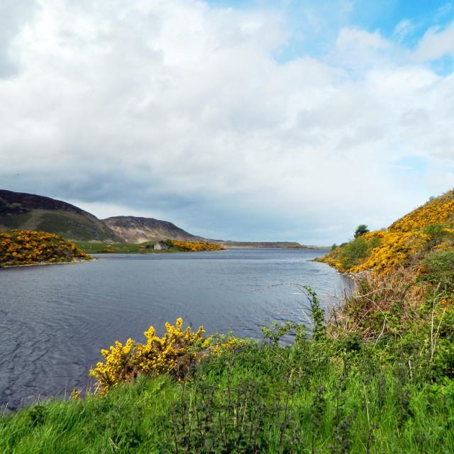 """River Naver, Sutherland."" stock image"