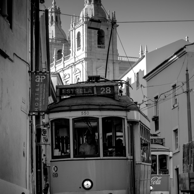 """Streetcars of Alfama"" stock image"