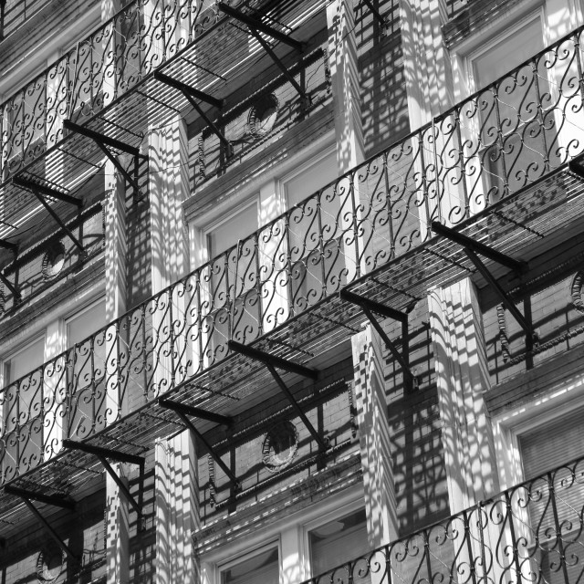 """Boston Balconies"" stock image"