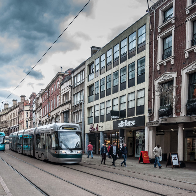 """Trams in Nottingham"" stock image"