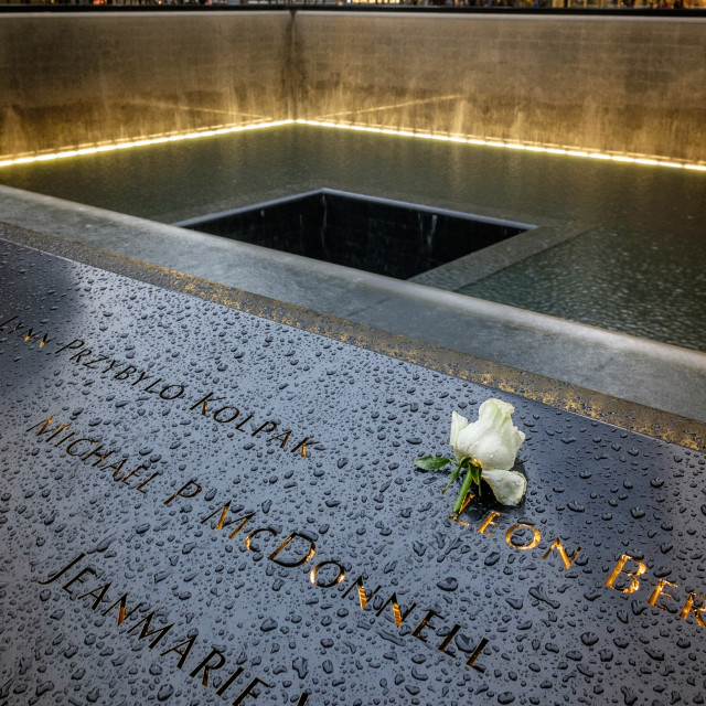 """Ground Zero Memorial"" stock image"