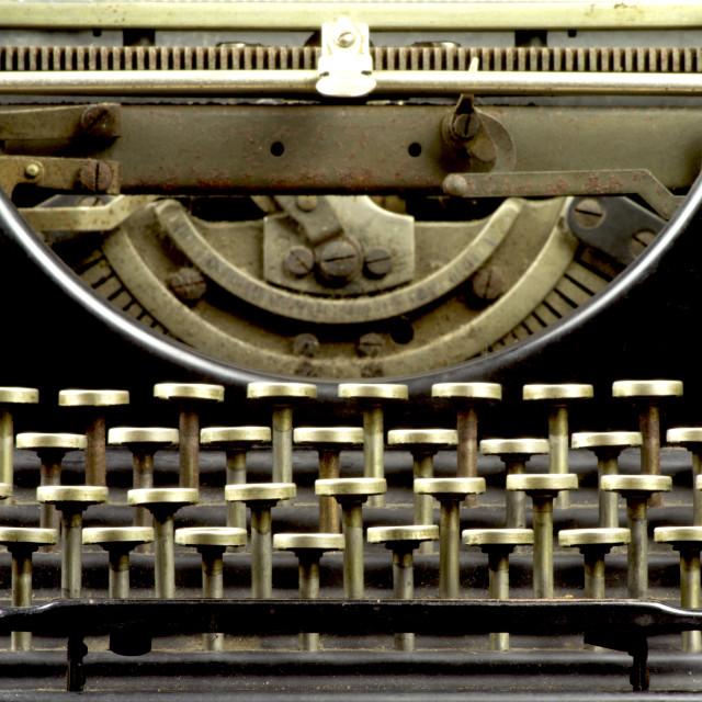 """""""Old typewriter, keyboard"""" stock image"""