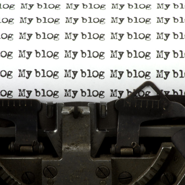 """My blog"" stock image"