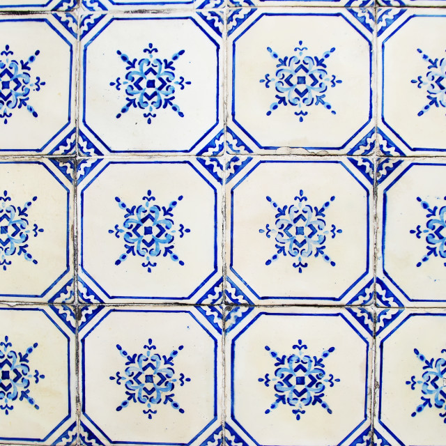 """""""Detail of old portuguese tiles"""" stock image"""