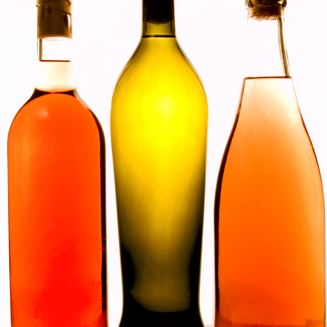 """Bottles of wine"" stock image"