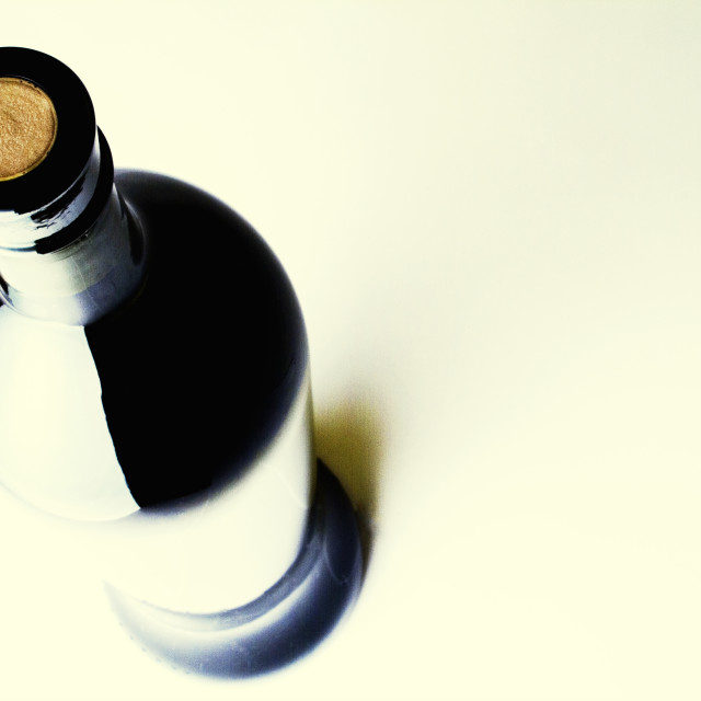 """Bottle of wine"" stock image"