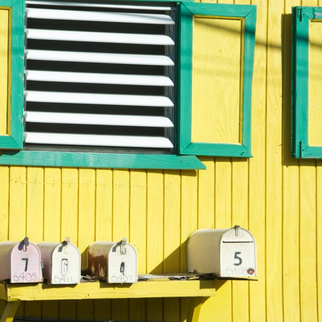 """Caribbean post box"" stock image"