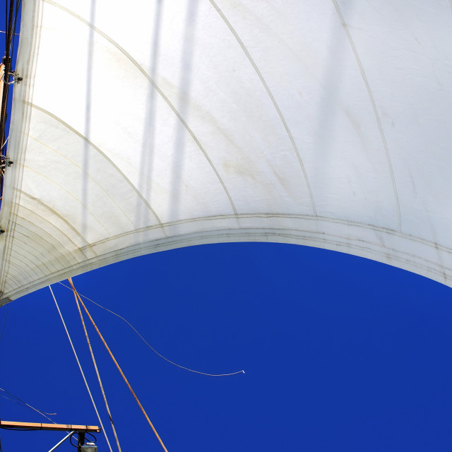 """white sails of yachts and blue sky"" stock image"