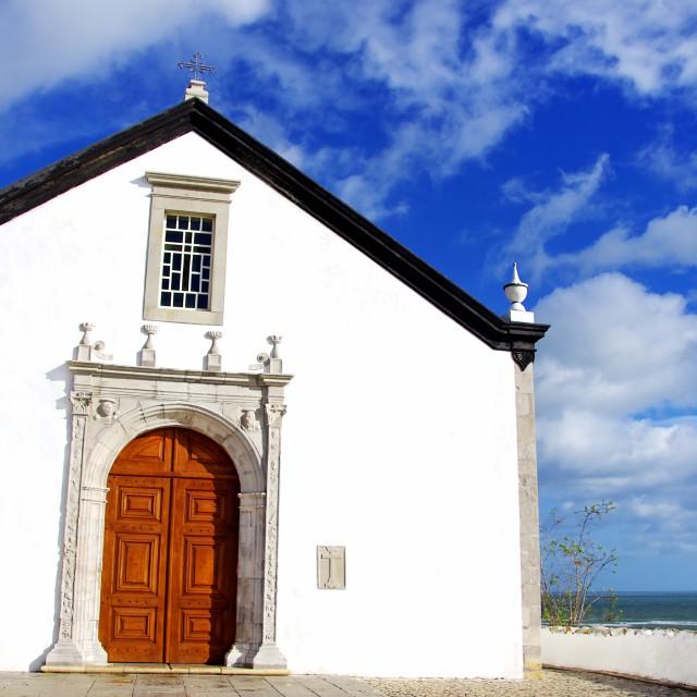 """""""Old chapel in Algarve region, Portugal"""" stock image"""