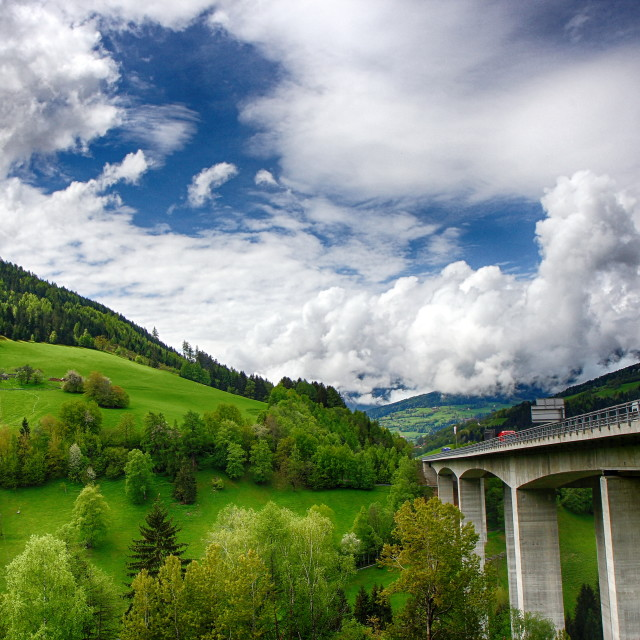 """Viaduct in the Alps"" stock image"