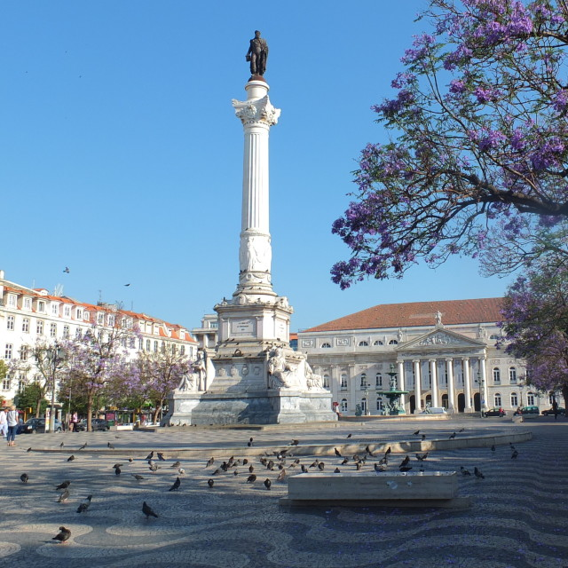 """Plaça Dom Pedro IV"" stock image"