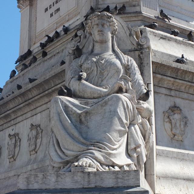 """""""Rossio Square Statue"""" stock image"""