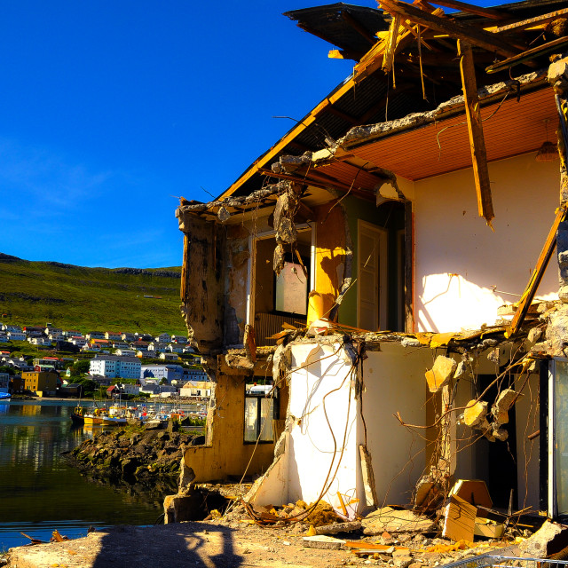"""House in Klaksvik"" stock image"