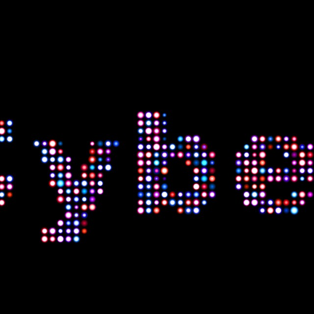 """""""Cyber led text"""" stock image"""