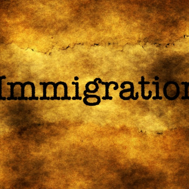 """""""Immigration grunge concept"""" stock image"""