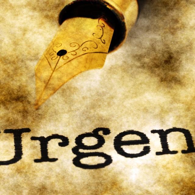 """Urgent concept"" stock image"