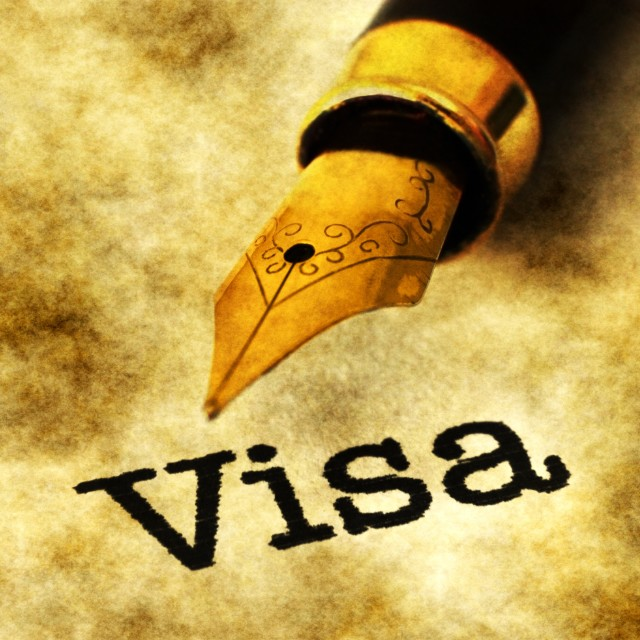 """VIsa concept"" stock image"