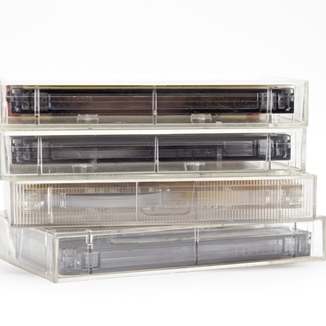 """""""Audio cassette tapes"""" stock image"""