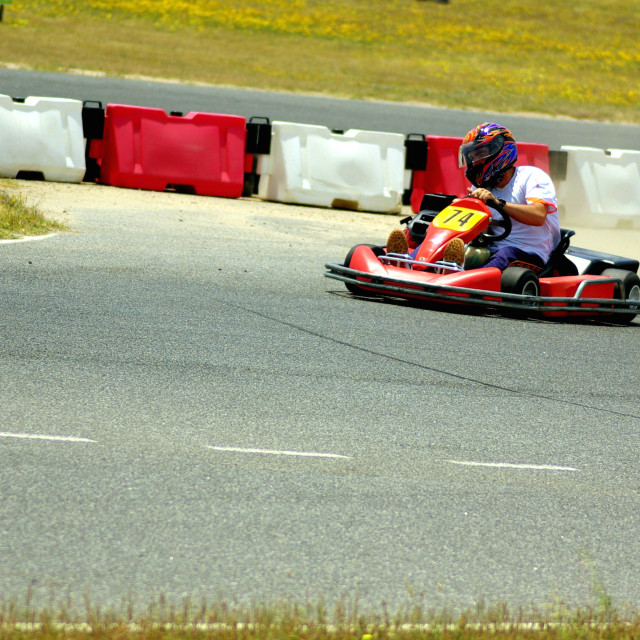 """Cars of Kart in closed circuit of competition"" stock image"