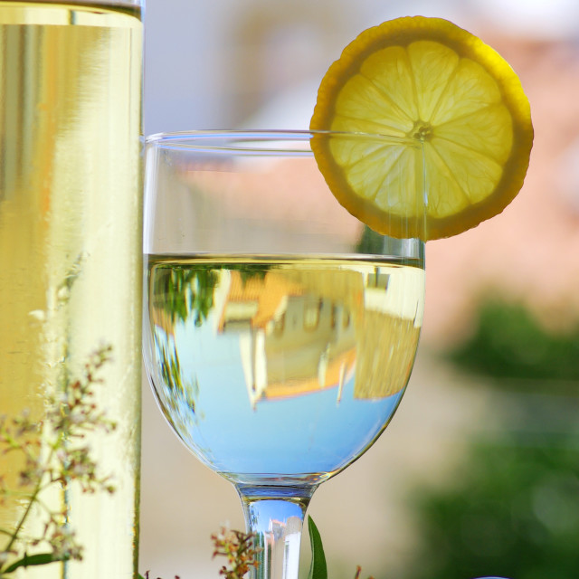 """White wine of the alentejo region , south of portugal"" stock image"