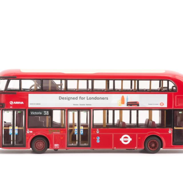 """Hybrid London Bus"" stock image"