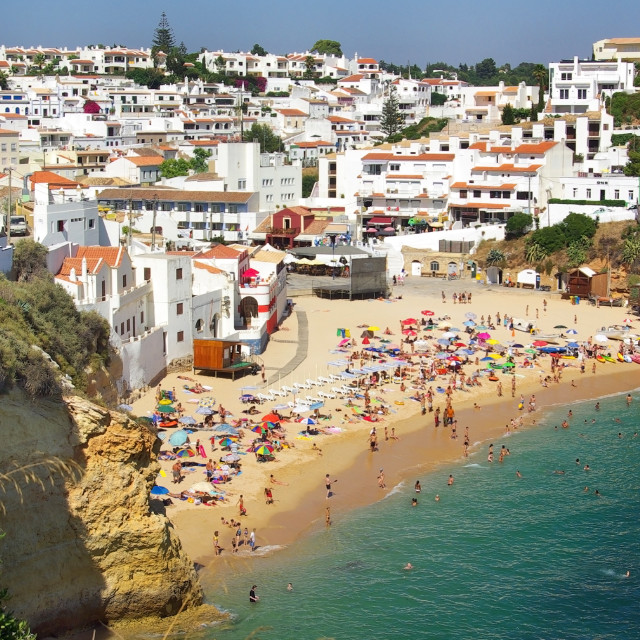 """Beach of Carvoeiro in Algarve region, Portugal."" stock image"