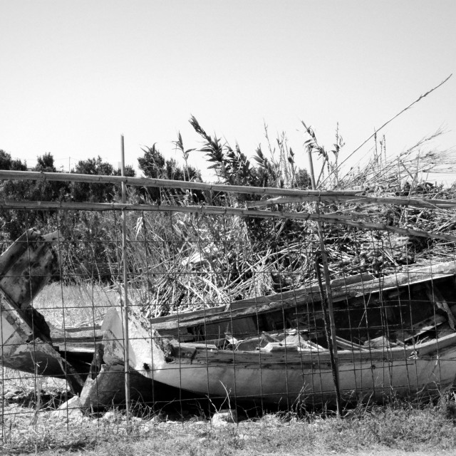"""Boat on the shore II"" stock image"
