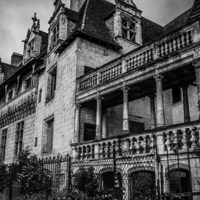 """""""Derelict French Mansion"""" stock image"""