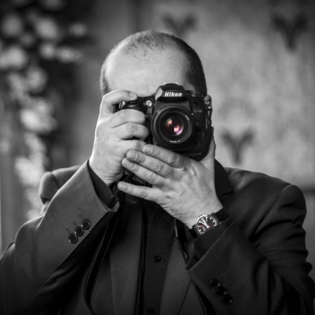 """Dualing Photographers"" stock image"