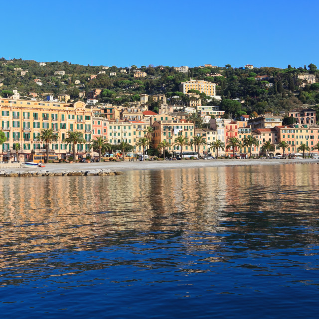 """Santa Margherita from the sea"" stock image"