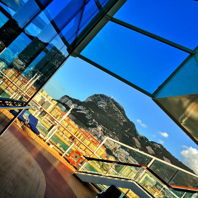 """Gibraltar Rock"" stock image"