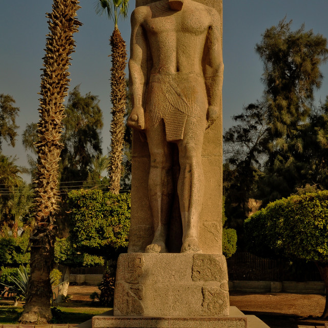 """pharaoh statue"" stock image"