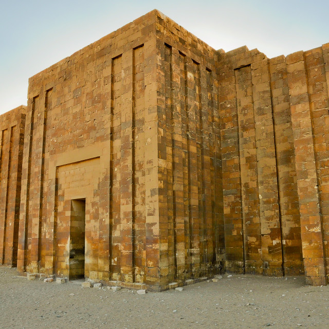 """""""Entrance to Pyramid of Djoser"""" stock image"""