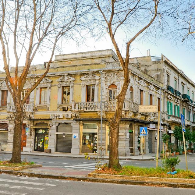 """Street in Messina"" stock image"