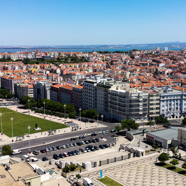 """Panoramic View of Lisbon"" stock image"