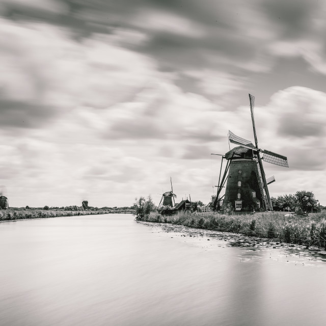 """""""The Windmill by the Lake"""" stock image"""
