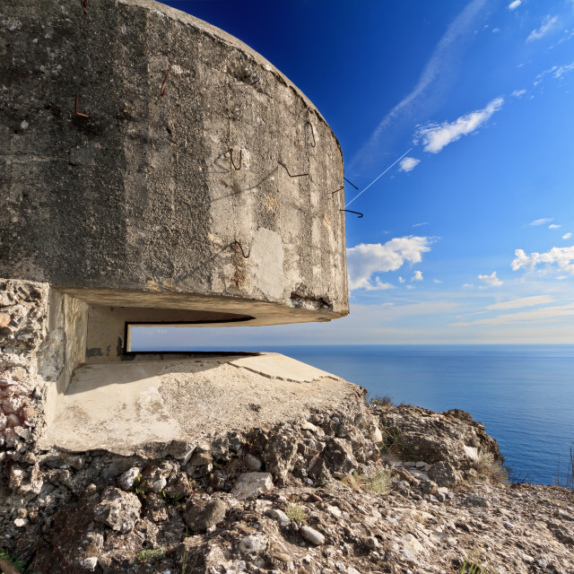 """bunker over the sea"" stock image"