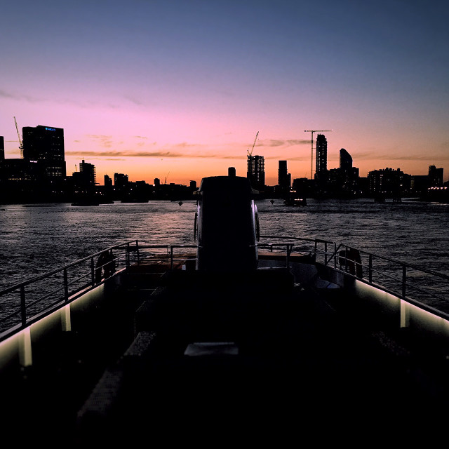 """""""Sunset over River Thames"""" stock image"""