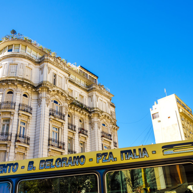 """Bus and Architecture"" stock image"