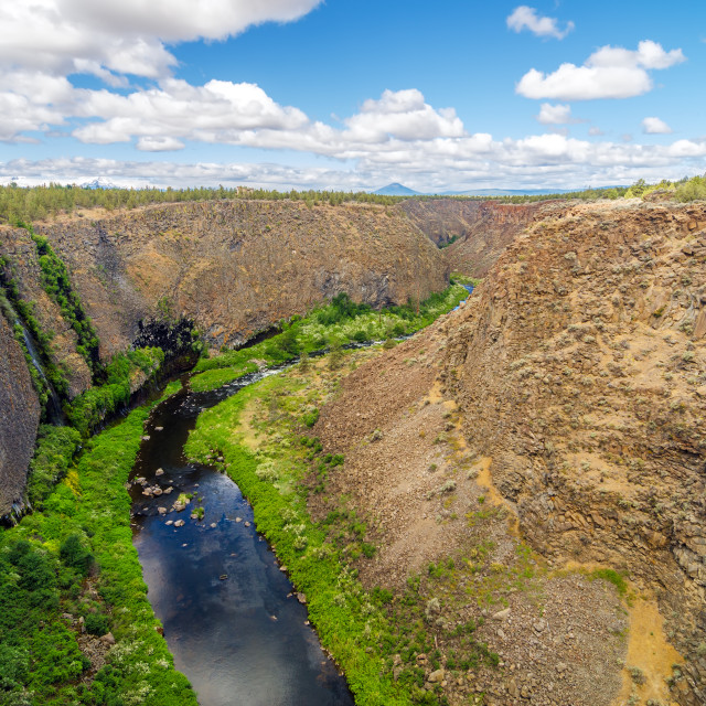 """""""Crooked River Canyon"""" stock image"""