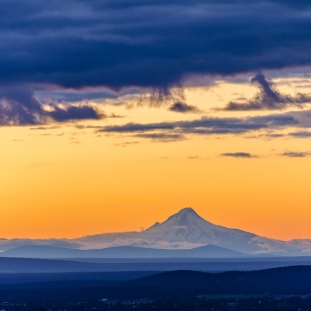"""Sunset over Mt. Hood"" stock image"