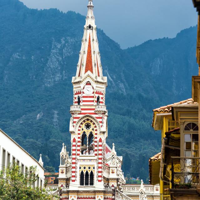 """""""El Carmen Church"""" stock image"""