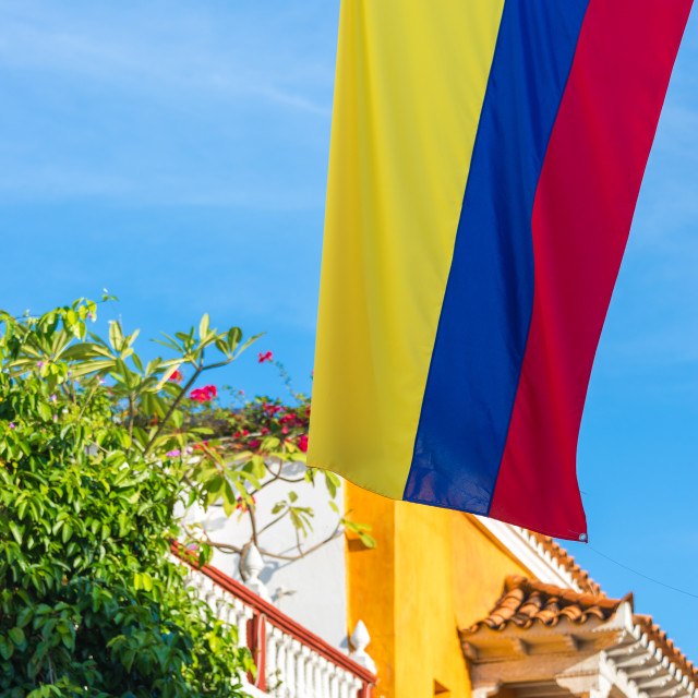 """Colombian Flag"" stock image"
