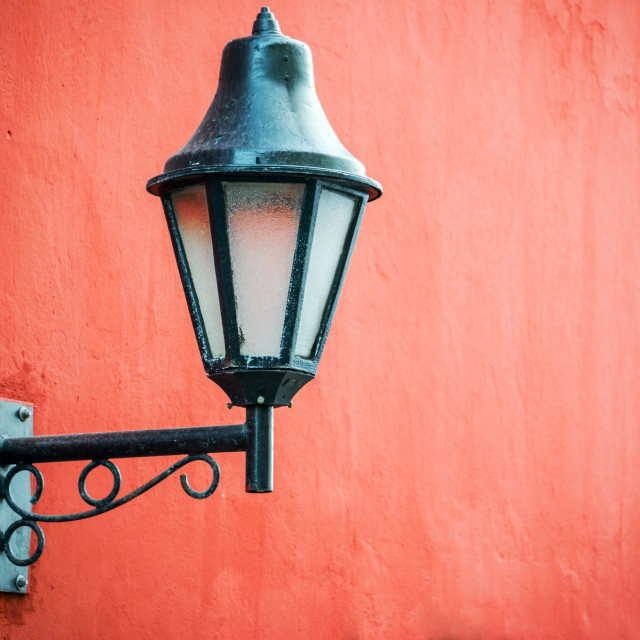 """Colonial Street Light"" stock image"
