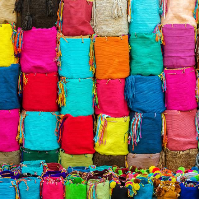 """Colombian Souvenirs"" stock image"