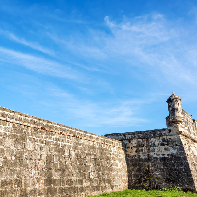 """""""Wall of Cartagena, Colombia"""" stock image"""