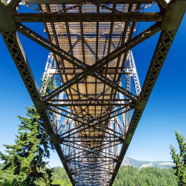 """Below a Bridge"" stock image"