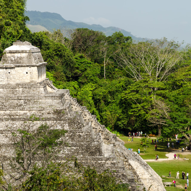 """Crowd at Palenque"" stock image"