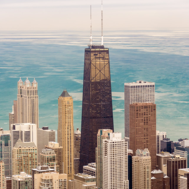 """Chicago Skyscrapers and Lake"" stock image"