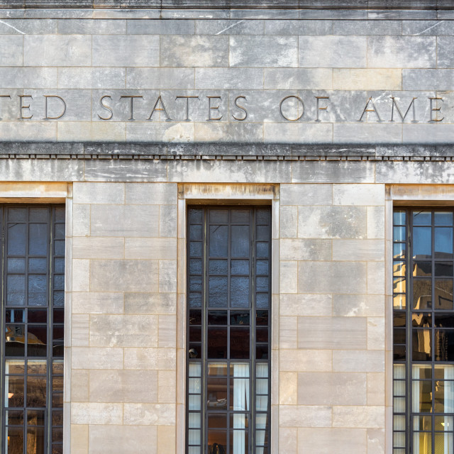 """USA Building Facade"" stock image"